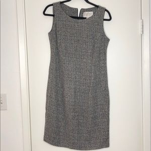 Black and White Lightweight tweed mini dress